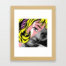 Roy Lichtenstein's Girl with Hair Ribbon & Bette Davis Framed Art Print