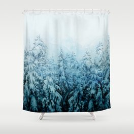 Winter Forest Shower Curtain