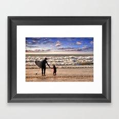 Early Surfer Framed Art Print