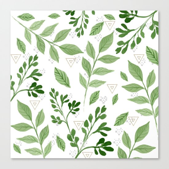 Plants with triangles Canvas Print