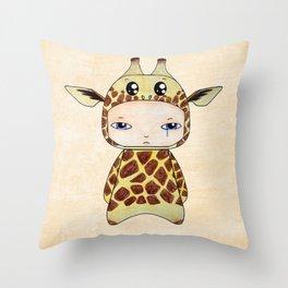 A Boy - Giraf Throw Pillow