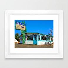 Abandoned Taco Time Framed Art Print