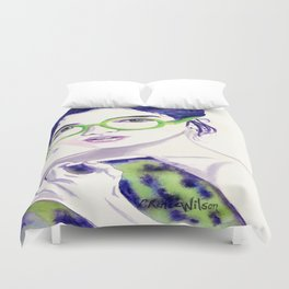 Clio; Musae of History Duvet Cover