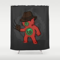 freddy krueger Shower Curtains featuring Freddy Kruebear by pepemaracas