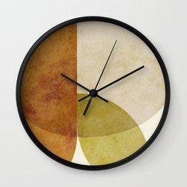 organic shapes abstract boho 4 Wall Clock