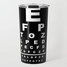 Inverted Eye Test Chart Travel Mug