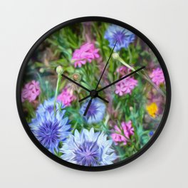 Cornflower Party Wall Clock
