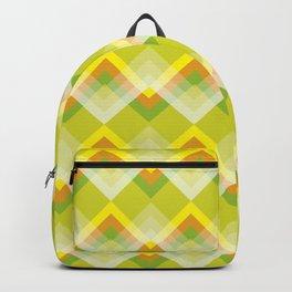 Yellow Orange Chevron Backpack