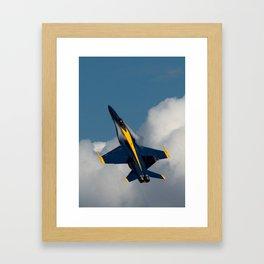 Blue Angel 6 Condensation Climb Framed Art Print