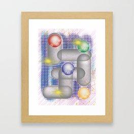 Classic Fidget Spinner Framed Art Print