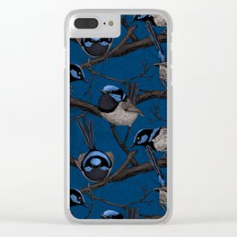 Night fairy wrens Clear iPhone Case
