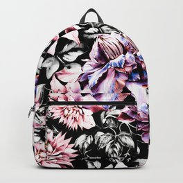 Pink bloom in the dark Backpack