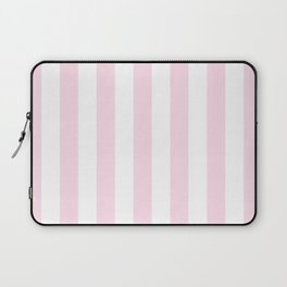 Simple Pink and White stripes, vertical Laptop Sleeve