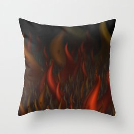 We Are All Burning Throw Pillow