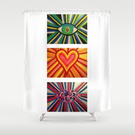 See, Feel and Speak Shower Curtain