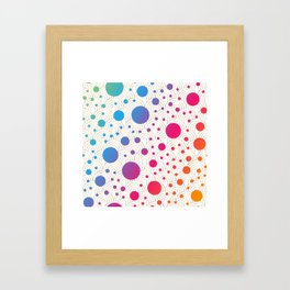 Abstract colorful background with cirlces Framed Art Print