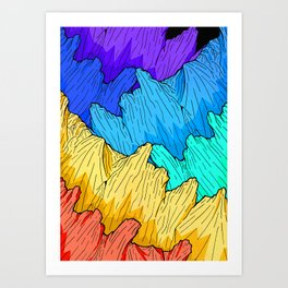 Rainbow Mounts Art Print