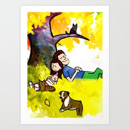 A Warm Autumn Day Art Print