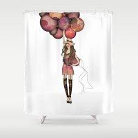 ballon Shower Curtains featuring Le Ballon // Birthday IV by annabours
