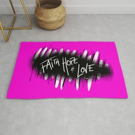Faith, Hope and Love Rug