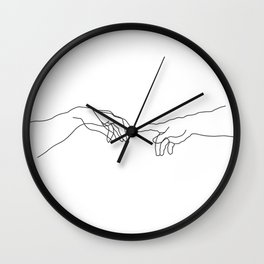 Creation of Adam Minimal Drawing Wall Clock