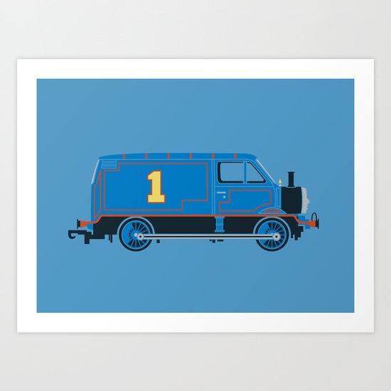 Tommy the Van Engine Art Print