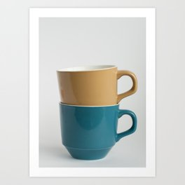 Tea Cup Stack Art Print