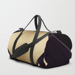 Rich Gold and Purple Accent Diamond Pattern Duffle Bag