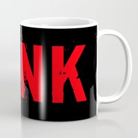 punk rock Mugs featuring PUNK by Silvio Ledbetter