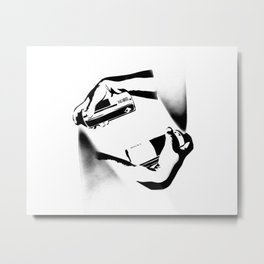 Spraying Hands Metal Print