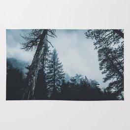 Dark misty forest Rug