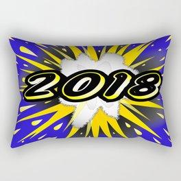 2018 Cartoon Bubble Rectangular Pillow
