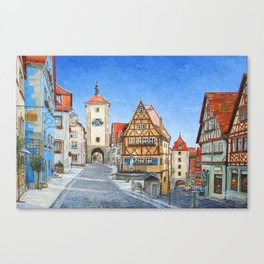 Rothenburg Germany Canvas Print