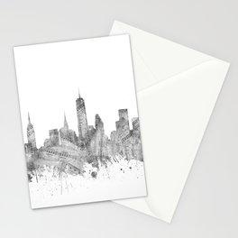 new york skyline music Stationery Cards