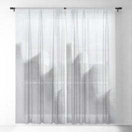 White and Minimal Sheer Curtain
