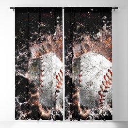 Baseball print work vs 5 Blackout Curtain
