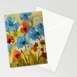 Flowers (watercolor) Stationery Cards