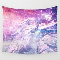 celestial Wall Tapestries featuring Celestial Angel by 2sweet4words Designs