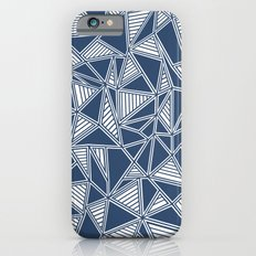 Abstract Outline Lines Navy Slim Case iPhone 6s