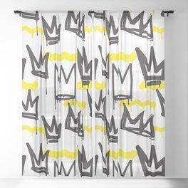 Graffiti illustration 04 Sheer Curtain