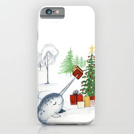 Christmas Narwhal iPhone Case