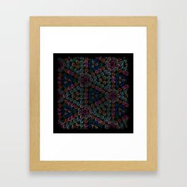 Color abstract digital background Framed Art Print