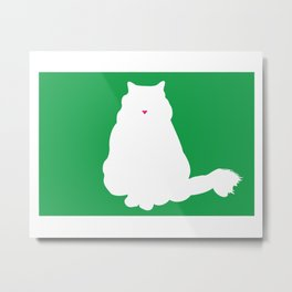 Cat Silhouettes: Birman Metal Print
