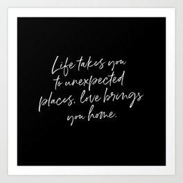 Life Quote Art Art Print