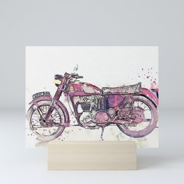 1955 Ariel 350 cc watercolor by Ahmet Asar Mini Art Print