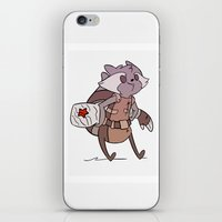 rocket raccoon iPhone & iPod Skins featuring Rocket by Charleighkat
