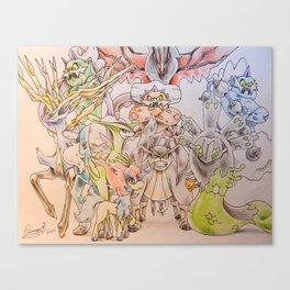 Unova and Kalos Canvas Print