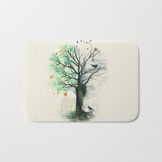 They Loved the Landscape to Death Bath Mat