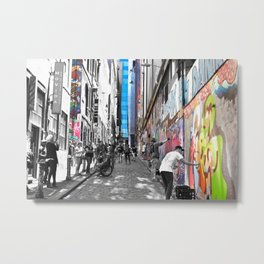 Making Hosier Lane Street Art Metal Print