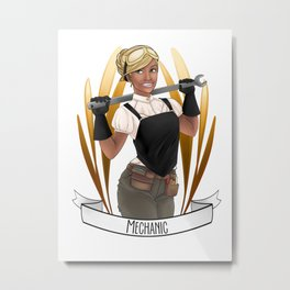 Steampunk Occupation Series: Mechanic Metal Print